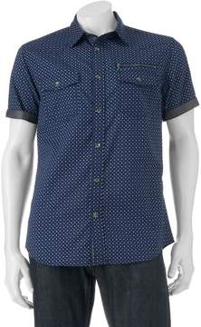 Rock & Republic Big & Tall Classic-Fit Diamond Button-Down Shirt