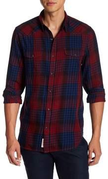 Lucky Brand Santa Fe Plaid Long Sleeve Trim Fit Shirt