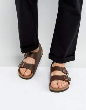 Birkenstock Milano Sandals in Dark Brown