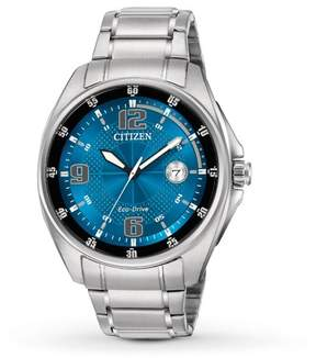 Citizen WDR AW1510-54L Blue/Silver Stainless Steel Analog Eco-Drive Men's Watch
