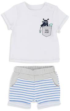 Little Marc Jacobs Boys' Dragon Tee & Striped Shorts Set - Baby