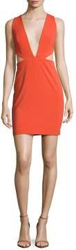 Aq/Aq Women's Rhodium Cut-Out Mini Dress