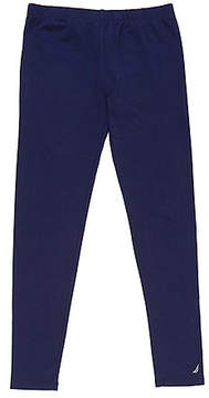 Nautica Toddler Girls' Solid Logo Leggings (2T-3T)