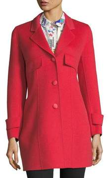 Emporio Armani A-Line Button-Front Wool-Cashmere Coat