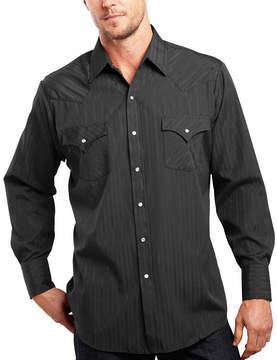 JCPenney Ely Cattleman Long-Sleeve Tonal Snap Shirt