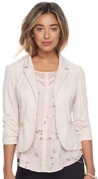 Candies Candie's Juniors' Candie's® Ruched Lace Knit Blazer