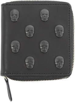 Lucien Pellat-FinetSkull Studs Small Zip Wallet