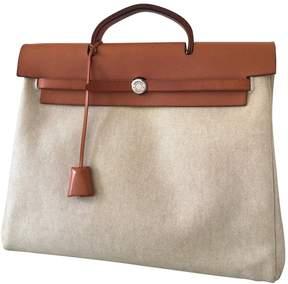 Hermes Herbag cloth handbag - BEIGE - STYLE