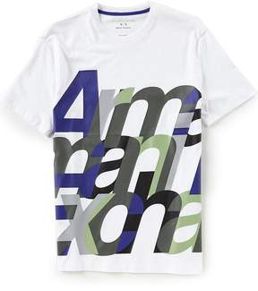 Armani Exchange Slim-Fit All Over Logo Short-Sleeve Tee