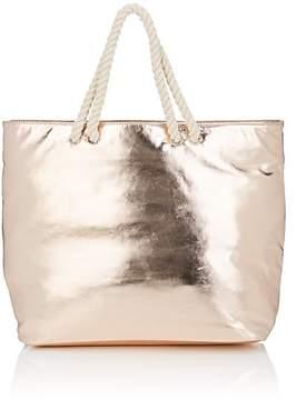 Barneys New York WOMEN'S METALLIC TOTE BAG