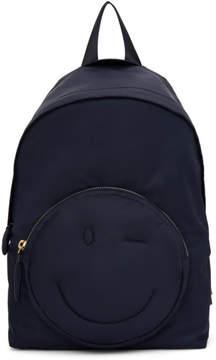 Anya Hindmarch Navy Chubby Wink Backpack