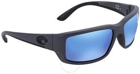 Costa del Mar Fantail Blue Mirror Glass Wrap Sunglasses TF 98 OBMGLP