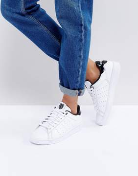 K-Swiss Clean Court Sneakers In White And Black