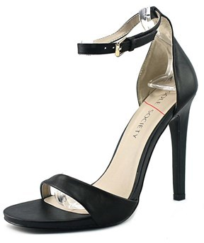 Sole Society Lindsay Women Open-toe Leather Black Heels.