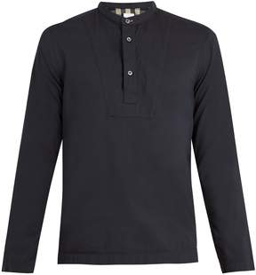 Paul Smith Grandad-collar cotton-blend shirt