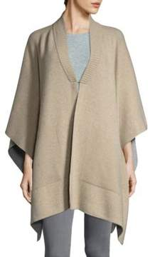 Saks Fifth Avenue Double Knit Cashmere Ruana