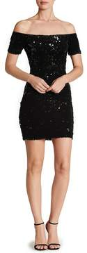Dress the Population Larissa Sequin Off the Shoulder Body-Con Dress