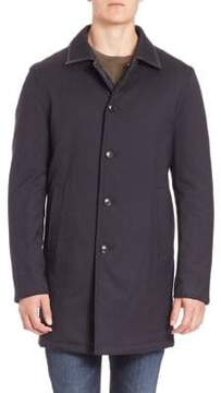 Saks Fifth Avenue COLLECTION Reversible Quilted Wool Blend Coat