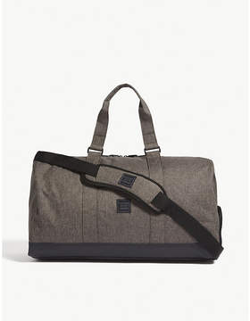 Herschel Canteen Crosshatch Dark Grey and Black Woven Novel Duffle Bag