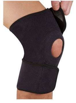 New Balance Titanium Ti22 Open Knee Support, One Size, Black