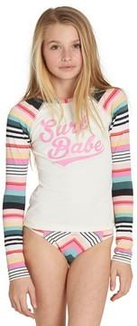Billabong Girl's Sun Faded Rashguard Two-Piece Swimsuit