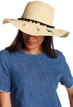 Betsey Johnson Flamingo Floppy Hat