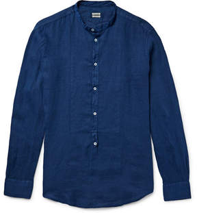 Massimo Alba Grandad-Collar Linen Shirt