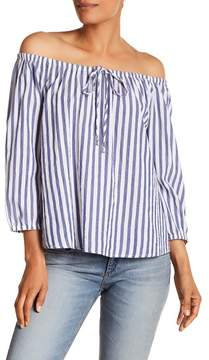 Velvet by Graham & Spencer Stripe Off-the-Shoulder Blouse