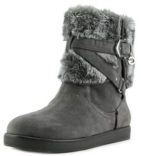 G by Guess Alixa Women Round Toe Faux Fur Gray Winter Boot.