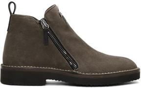 Giuseppe Zanotti Grey Disparro Boots