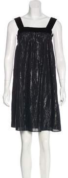 Edun Metallic-Accented Knee-Length Dress