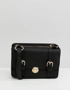 Asos DESIGN mini double compartment satchel cross body bag