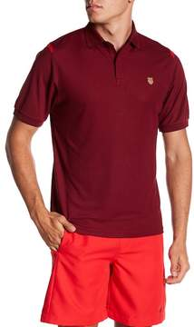 K-Swiss Backcourt Colorblock Short Sleeve Polo