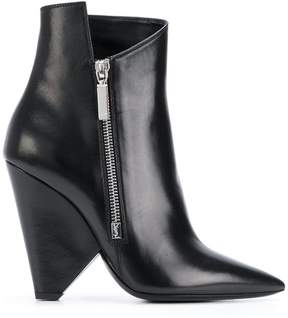 Saint Laurent Niki 105 asymmetric boots