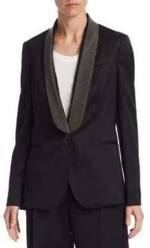 Brunello Cucinelli Wool Embellished Blazer