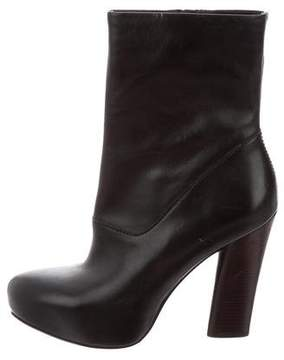 Marc by Marc Jacobs Leather Round-Toe Ankle Boots