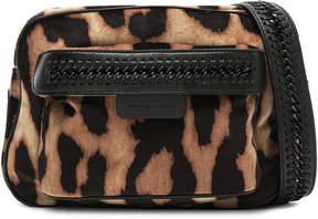 Stella McCartney Falabella Go Leopard Print Velvet Camera Bag