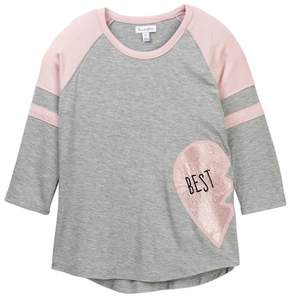 Love, Fire BEST Friend Matching Baseball Tee (Big Girls)
