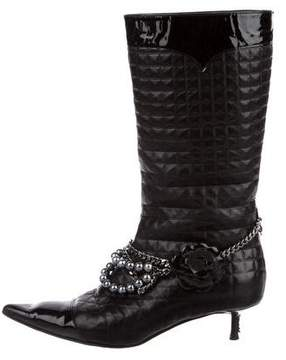 Chanel Quilted CC Boots