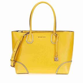 Michael Kors Mercer Gallery Medium Leather Tote- Sunflower - YELLOW - STYLE