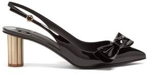 Salvatore Ferragamo Point-toe slingback patent leather pumps