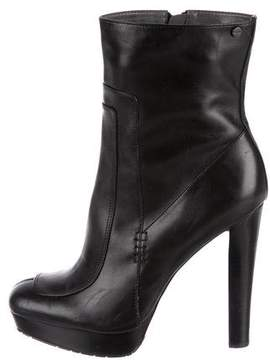 Calvin Klein Collection Leather Ankle Boots
