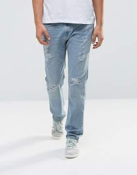 Hollister Jeans Slim Fit Destroyed Light Wash