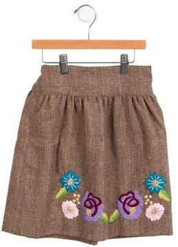Rachel Riley Girls' Embroidered Wool Skirt w/ Tags