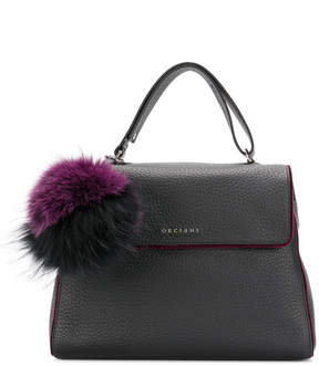 Orciani soft pompom tote