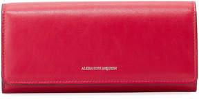Alexander McQueen Leather Continental Flap Wallet, Pink