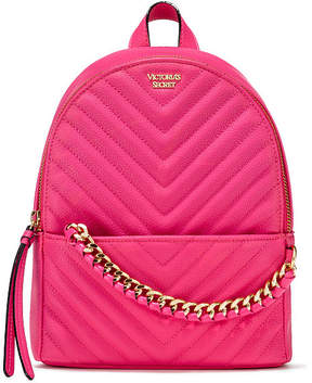 Victoria's Secret Victorias Secret Pebbled V-Quilt Small City Backpack