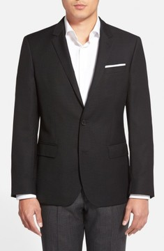 BOSS Men's Hutch Trim Fit Wool Blazer