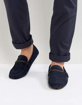Call it SPRING Haoelian Suede Loafers In Navy