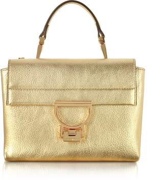 Coccinelle Platinum Pebbled Leather Arlettis Mini Bag w/Shoulder Strap